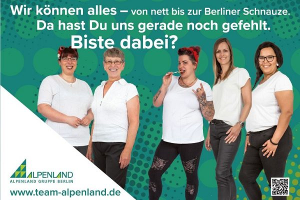 Alpenland in ganz groß-Alpenland Berlin Jobs 2