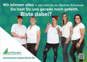Alpenland in ganz groß-Alpenland Berlin Jobs
